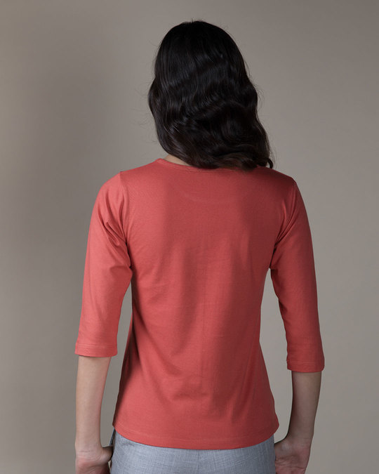 Shop Choose Happiness Round Neck 3/4th Sleeve T-Shirt-Back