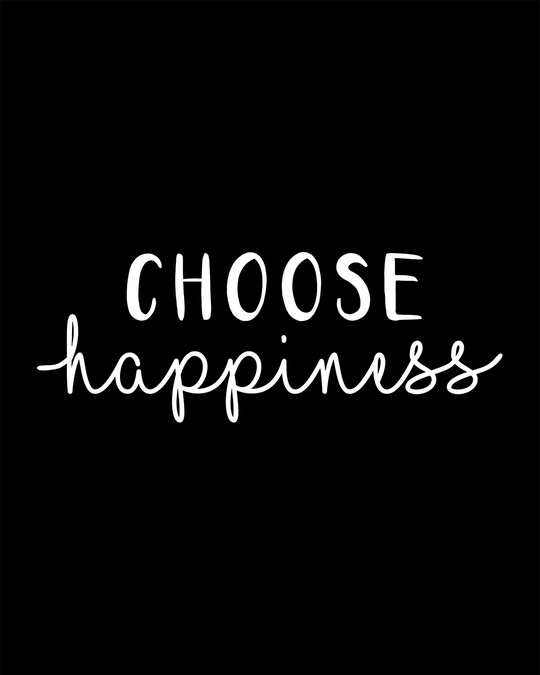 Shop Choose Happiness Round Neck Crop Top T-Shirt-Full