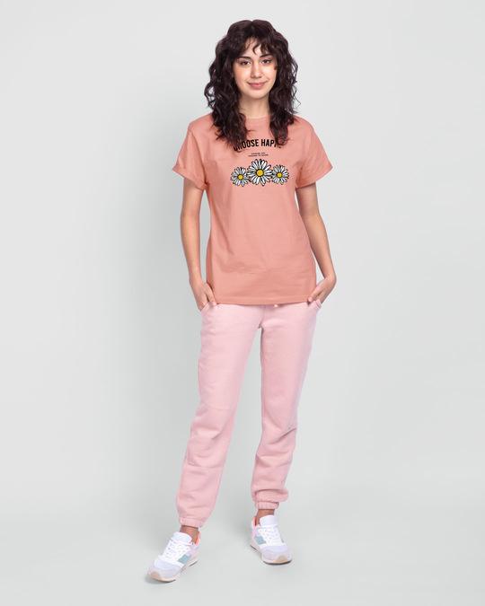 Shop Choose Happy Boyfriend T-Shirt Misty Pink-Design