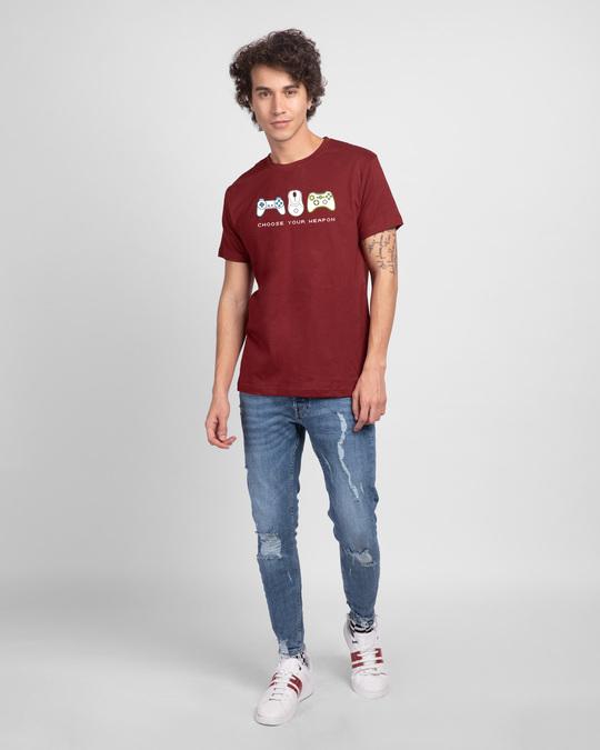 Shop Choose Your Weapon Half Sleeve T-Shirt-Design