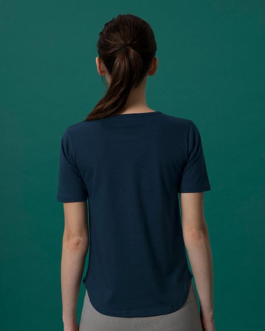 Shop Christmas Mickey Basic Round Hem T-Shirt (DL)-Back
