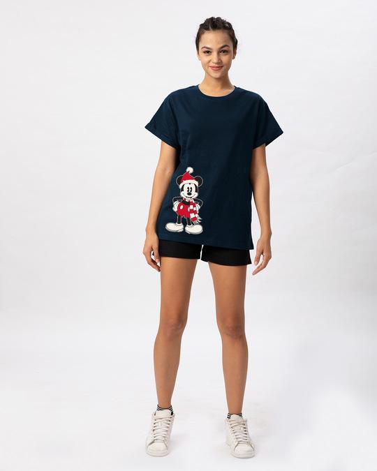 Shop Christmas Mickey Boyfriend T-Shirt (DL)