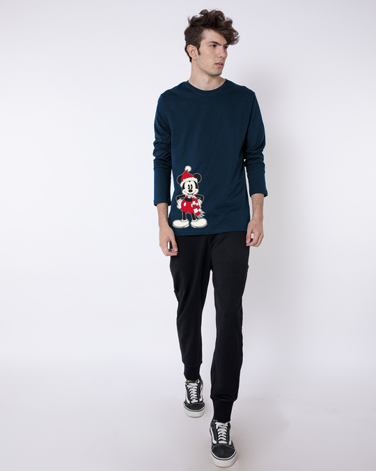 Shop Christmas Mickey Full Sleeve T-Shirt (DL)