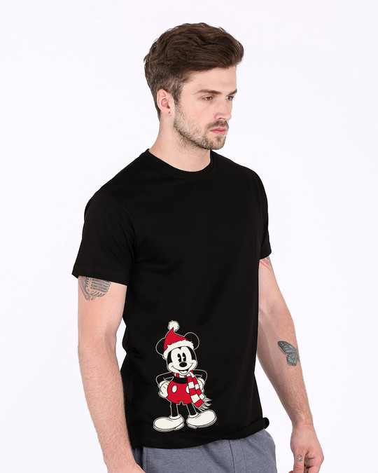 Shop Christmas Mickey Half Sleeve T-Shirt (DL)-Full