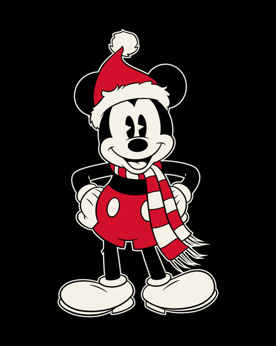 Shop Christmas Mickey Half Sleeve T-Shirt (DL)