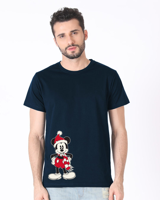 Shop Christmas Mickey Half Sleeve T-Shirt (DL)-Back