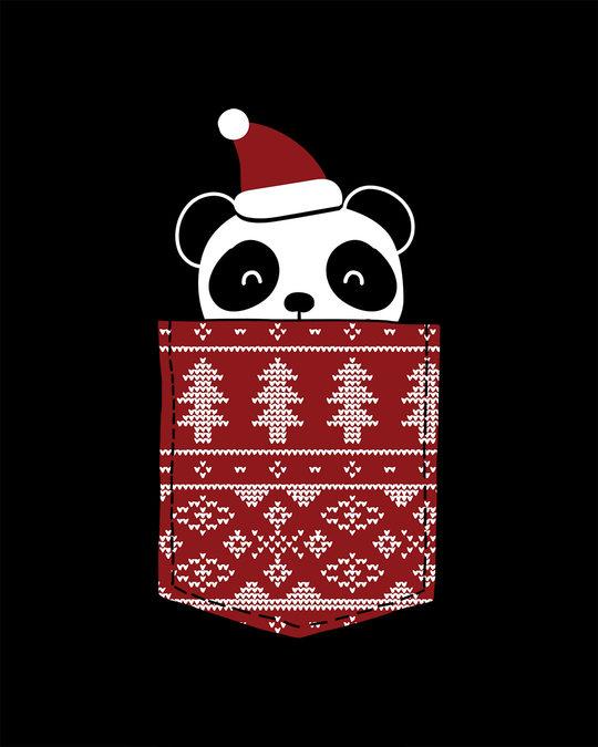 Shop Christmas Panda Boyfriend T-Shirt