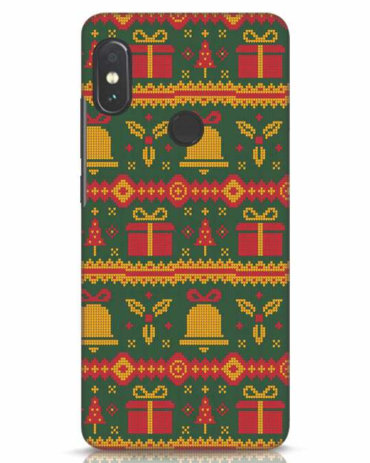 Shop Christmas Pattern Xiaomi Redmi Note 5 Pro Mobile Cover-Front