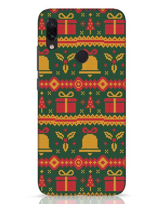 Shop Christmas Pattern Xiaomi Redmi Note 7 Pro Mobile Cover-Front