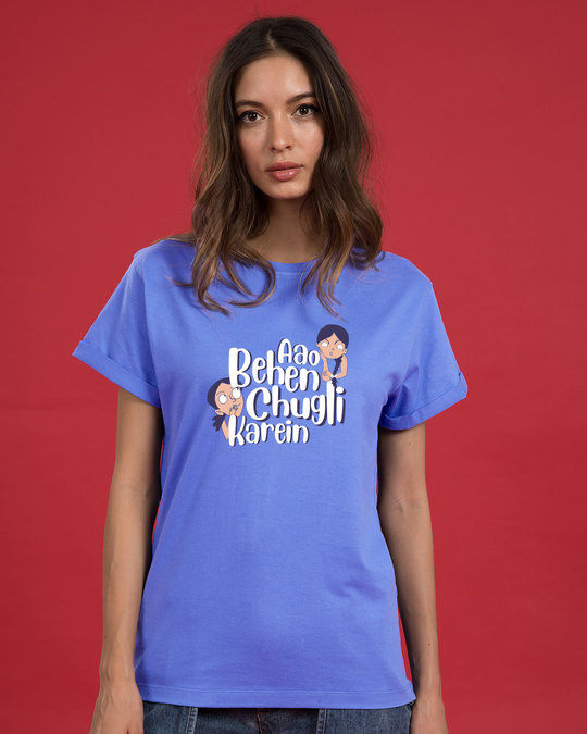 Shop Chugli Boyfriend T-Shirt-Back
