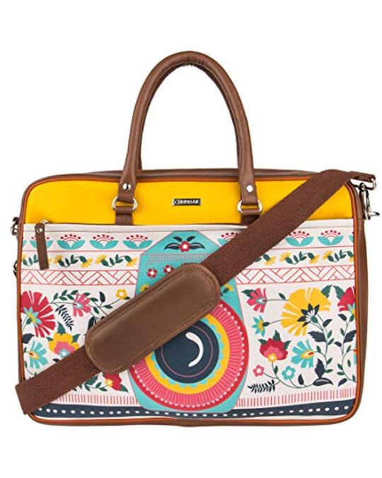 Shop Floral Camera Laptop Bag-Front