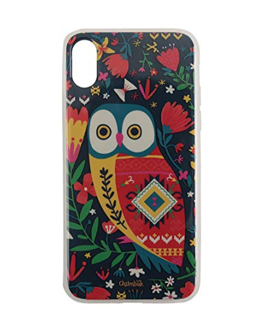 Shop Iphone X Floral Owl Mobile Cover-Front