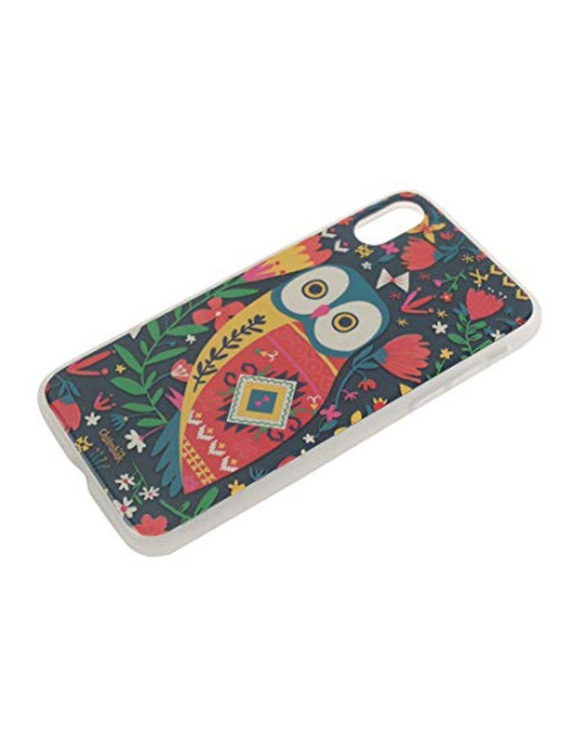 Shop Iphone X Floral Owl Mobile Cover-Back