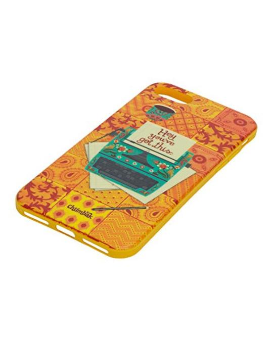 Shop Iphone 8/Se Floral Typewriter Mobile Cover-Back