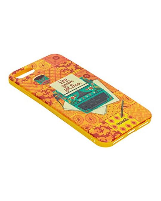 Shop Iphone 8/Se Floral Typewriter Mobile Cover-Design