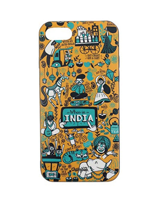 Shop Iphone 7/Se When In India Mobile Cover-Front