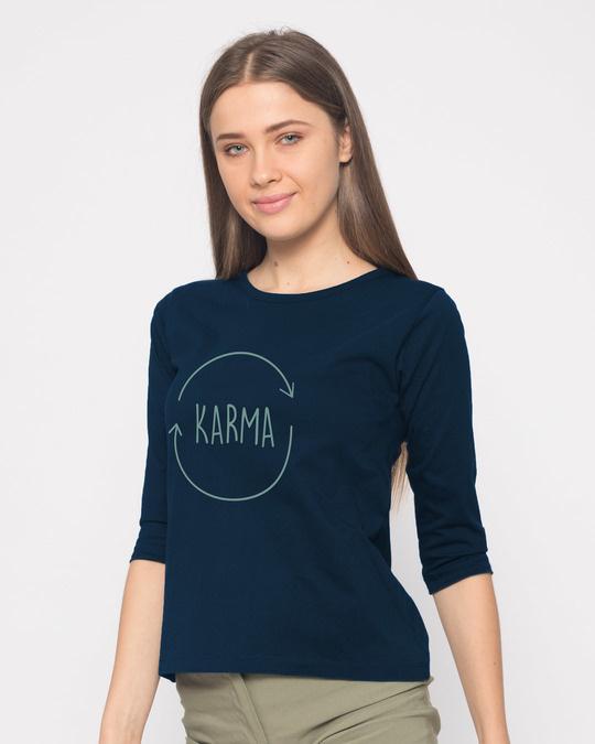 Shop Circle Of Life Round Neck 3/4th Sleeve T-Shirt-Back