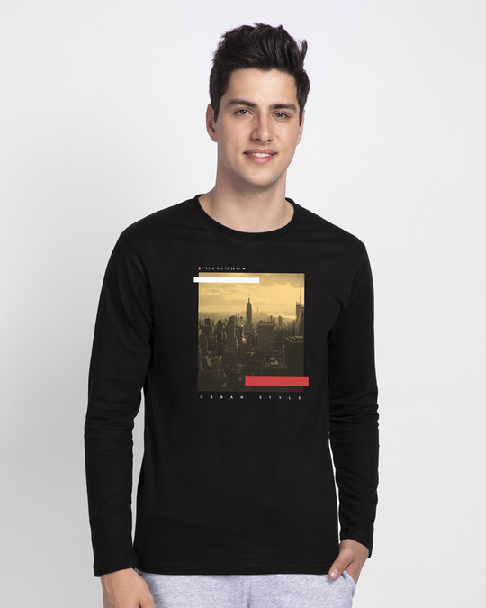 Shop City Urban Style Full Sleeve T-Shirt-Front