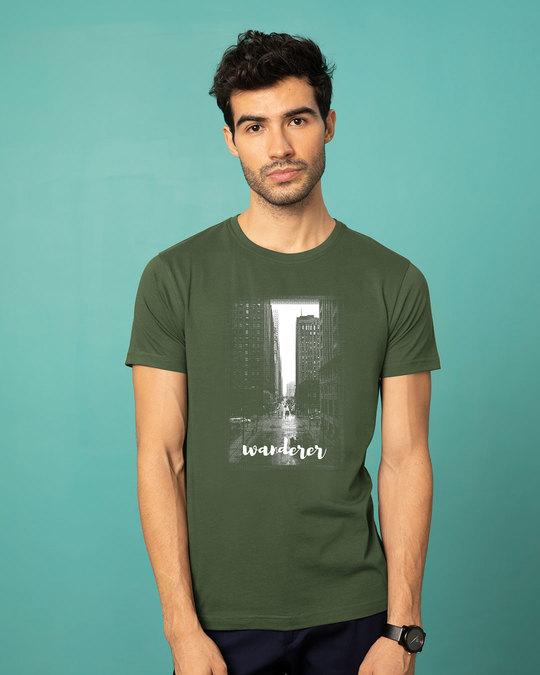 Shop City Wanderer Half Sleeve T-Shirt-Back