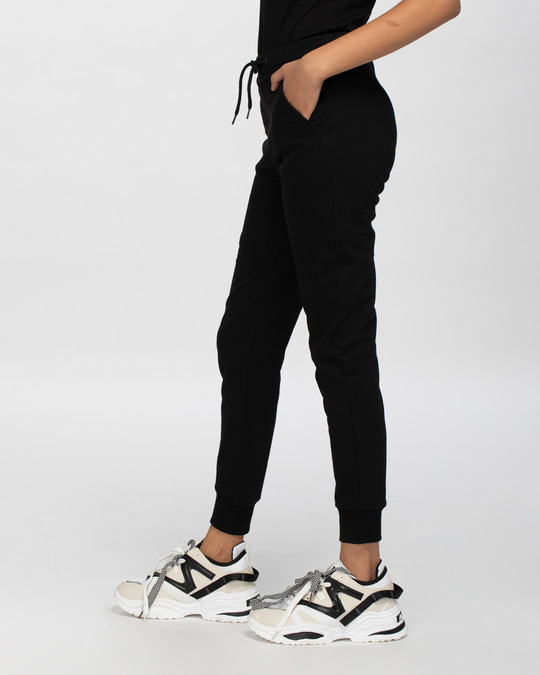 Shop Classic Black Joggers-Back