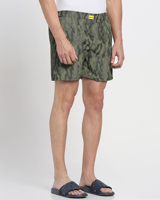 Shop Classic Camo All Over Printed Boxer-Back