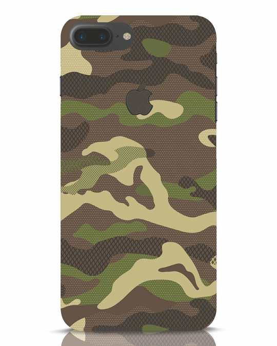 Shop Classic Camo iPhone 7 Plus Logo Cut Mobile Cover-Front