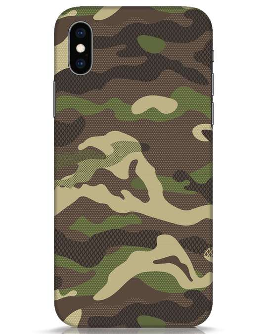 Shop Classic Camo iPhone XS Mobile Cover-Front