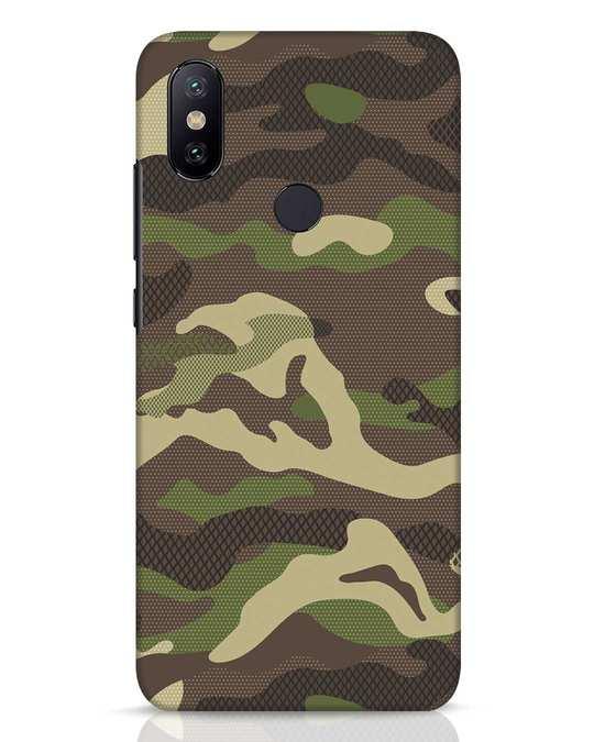 Shop Classic Camo Xiaomi Mi A2 Mobile Cover-Front