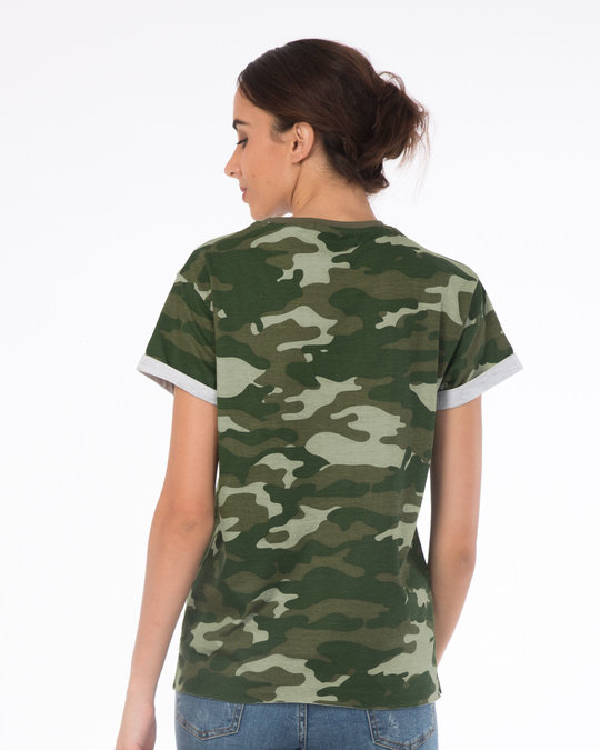 Shop Classic Camouflage Boyfriend T-Shirt-Full
