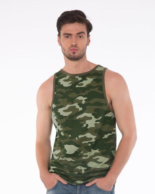Shop Classic Camouflage Longline Vest-Front