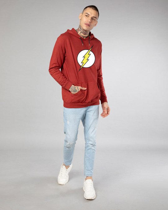 Shop Classic Flash Logo Fleece Hoodie (FL)-Design