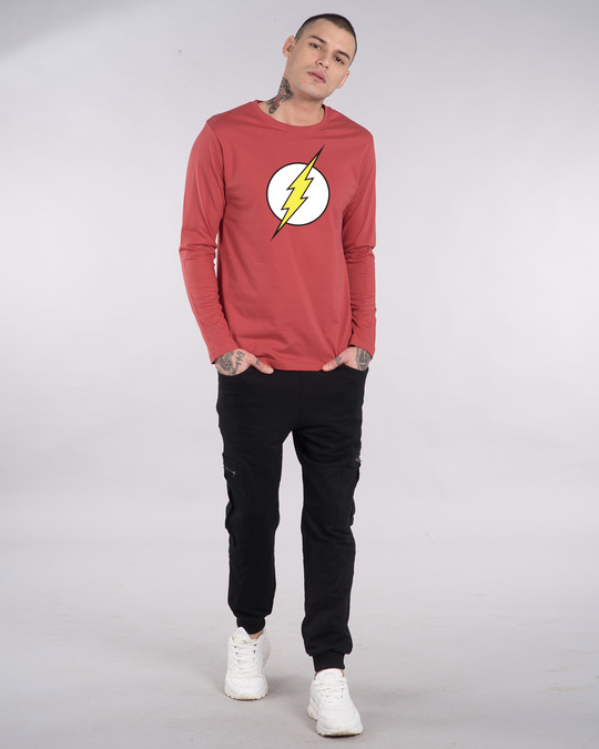 Shop Classic Flash Logo Full Sleeve T-Shirt (FL)-Full