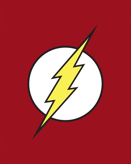 Shop Classic Flash Logo Half Sleeve T-Shirt (FL)