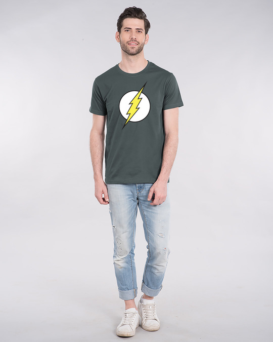 Shop Classic Flash Logo Half Sleeve T-Shirt (FL)-Design
