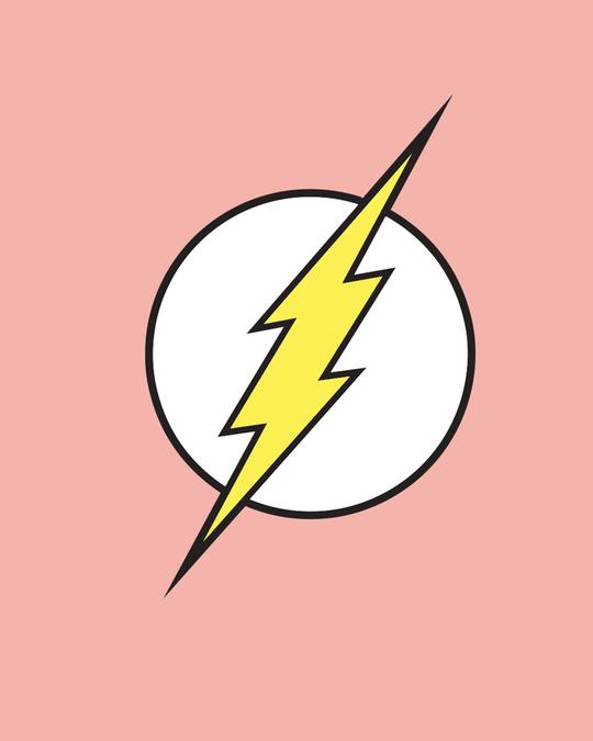 Shop Classic Flash Logo Half Sleeve T-Shirt (FL)-Full