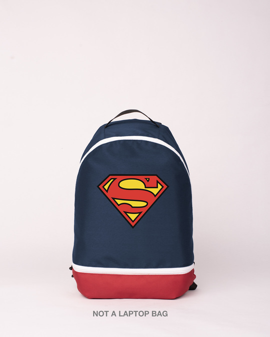 Shop Classic Superman Logo Printed Small Backpack (SML)-Front