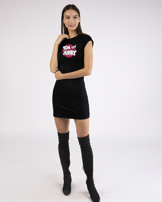Shop Classic Tj Logo Single Jersey T-Shirt Dress (TJL) Black-Design