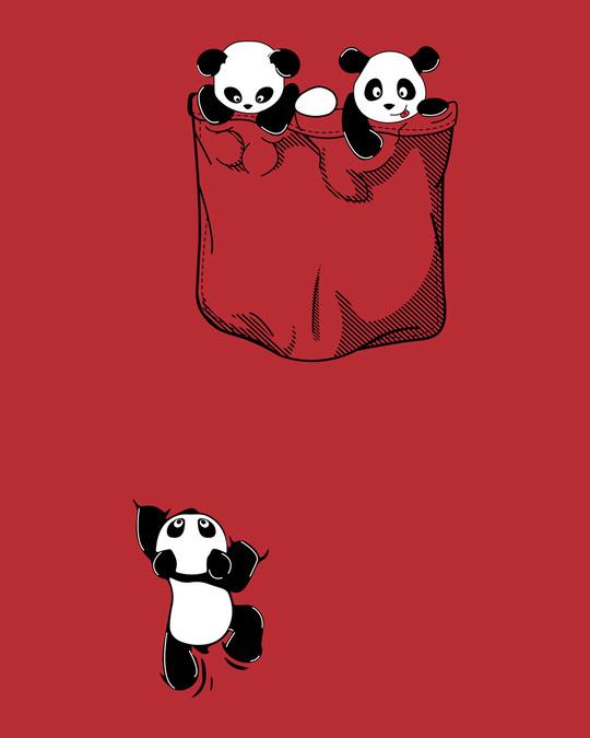 Shop Climbing Pocket Panda Cap Sleeve T-Shirt Dress-Full