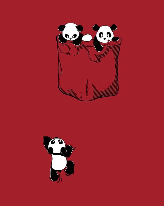 Shop Climbing pocket panda Half Sleeve T-Shirts