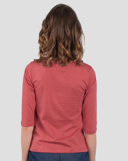 Shop Climbing Pocket Panda Round Neck 3/4th Sleeve T-Shirt-Back