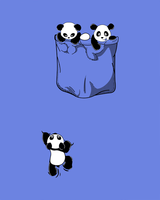 Shop Climbing Pocket Panda Scoop Neck Full Sleeve T-Shirt