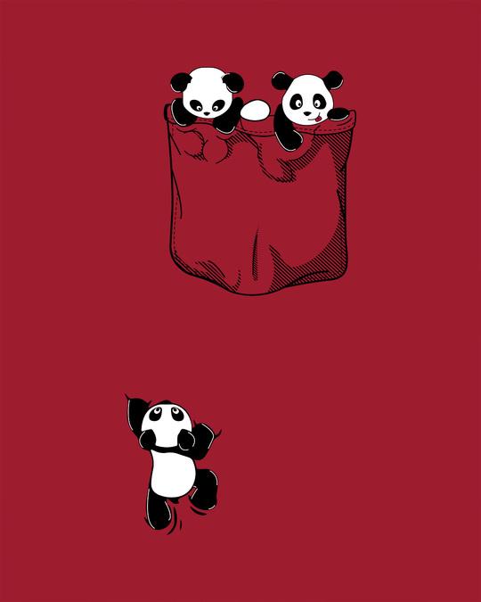 Shop Climbing Pocket Panda Scoop Neck Full Sleeve T-Shirt-Full