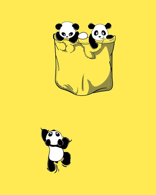 Shop Climbing pocket panda Boyfriend T-Shirts-Full