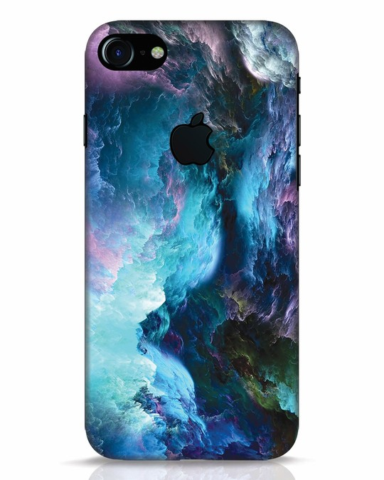 Shop Cloudy iPhone 7 Logo Cut Mobile Cover-Front
