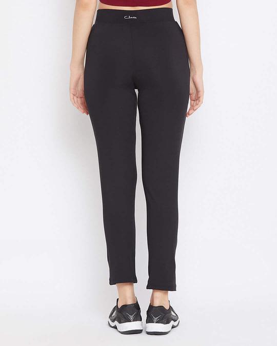 Shop Activewear Ankle Length Tights In Black-Back