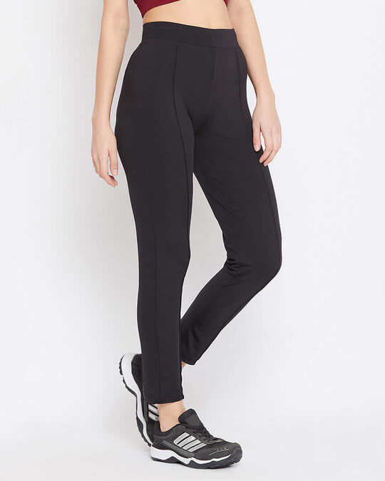 Shop Activewear Ankle Length Tights In Black-Design