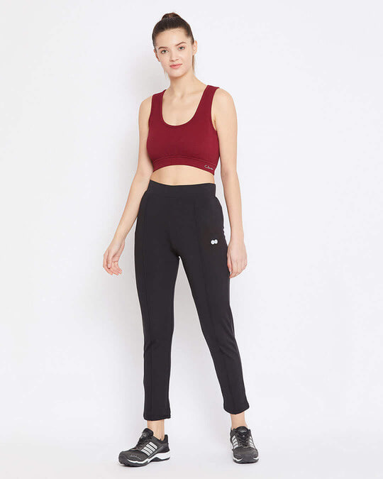 Shop Activewear Ankle Length Tights In Black