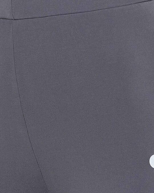 Shop Activewear Ankle Length Tights In Dark Grey-Full