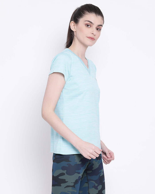 Shop Activewear T Shirt In Sky Blue-Full