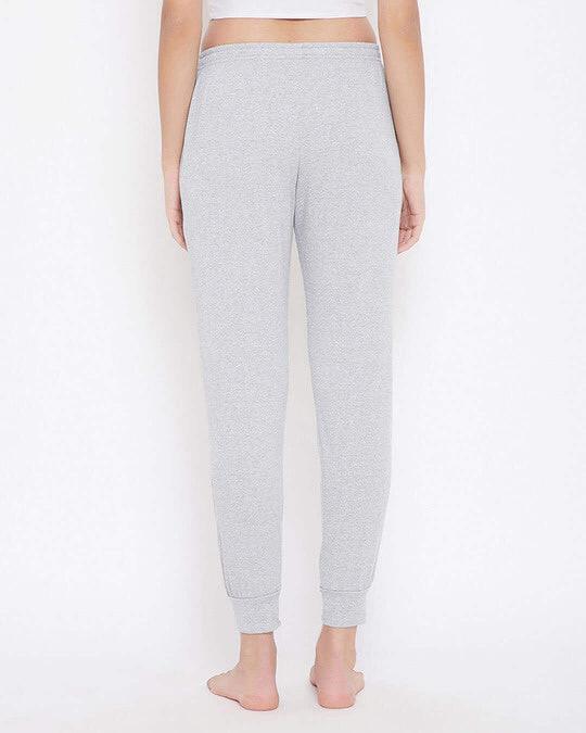 Shop Chic Basic Cuffed Pyjama In Grey   Cotton Rich-Back